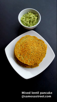 Mixed lentil pancake
