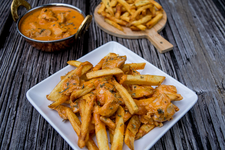 Butter Chicken Fries
