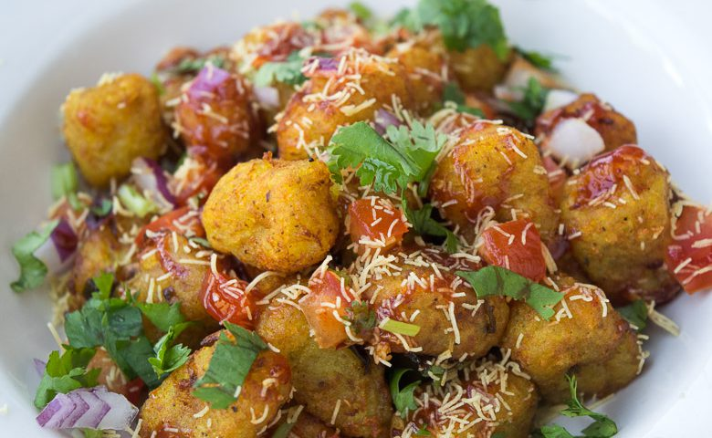 Cheesy Tatertot Chaat
