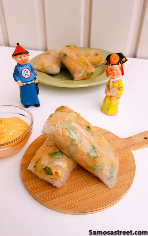 Chickpea Rice Paper Rolls