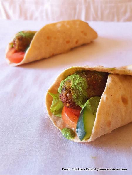 Fresh Chickpea Falafel Wrap