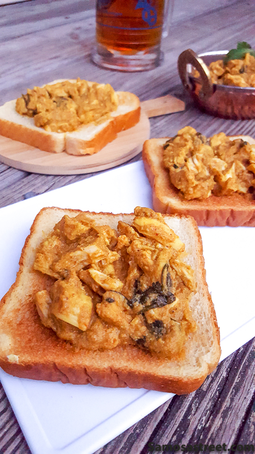 Masala Chicken on Toast