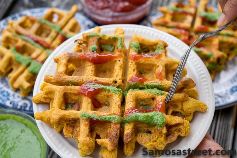 Pakora Waffles