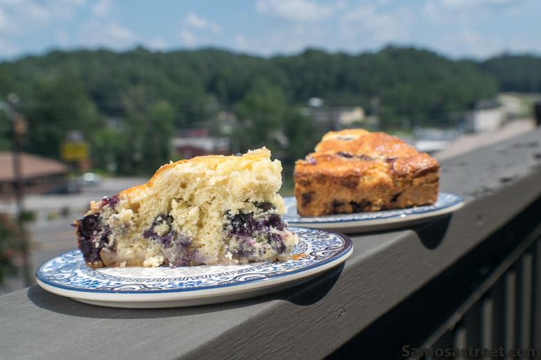 Pear-Blueberry Cream Cheese Cake