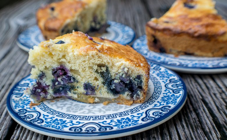 Pear-Blueberry Cream Cheese Cake