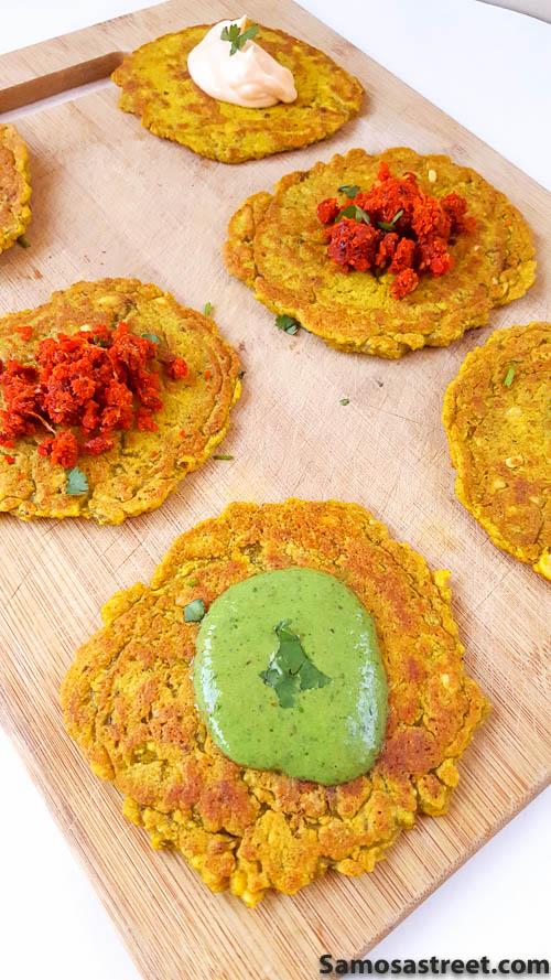 Savory Lentil Mini-Pancakes