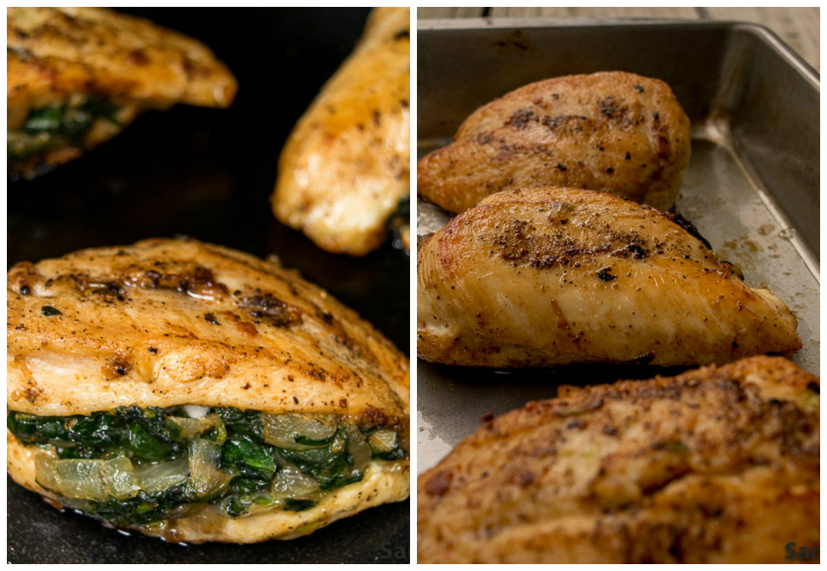 Stuffed Chicken with Spinach and Cheese