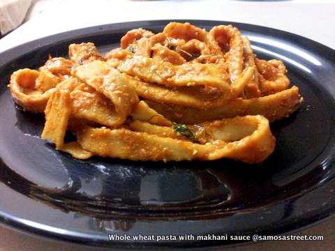 Whole wheat pasta with makhani sauce